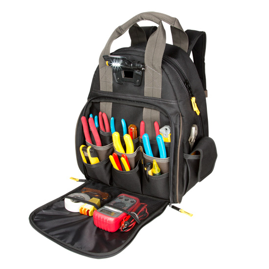 Tool Bag - L255 - Tech Gear 53 Pocket Backpack with Light
