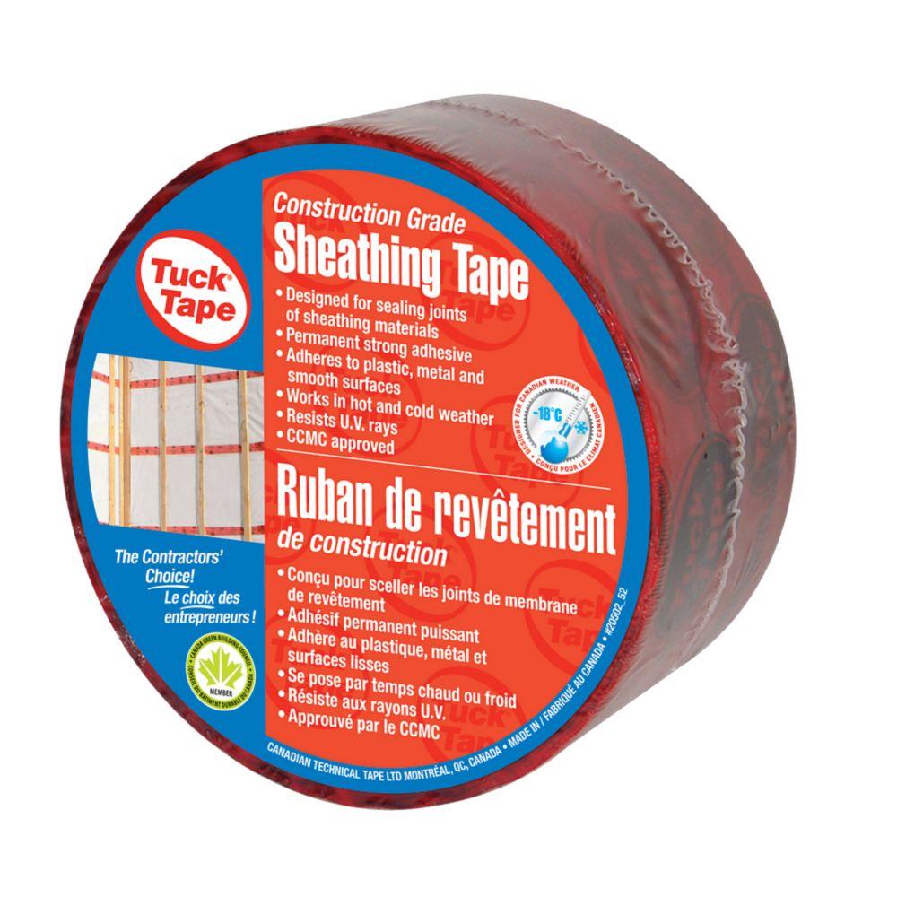 Sheathing Tuck Tape, Red, 60 mm x 66 m (20/cs)