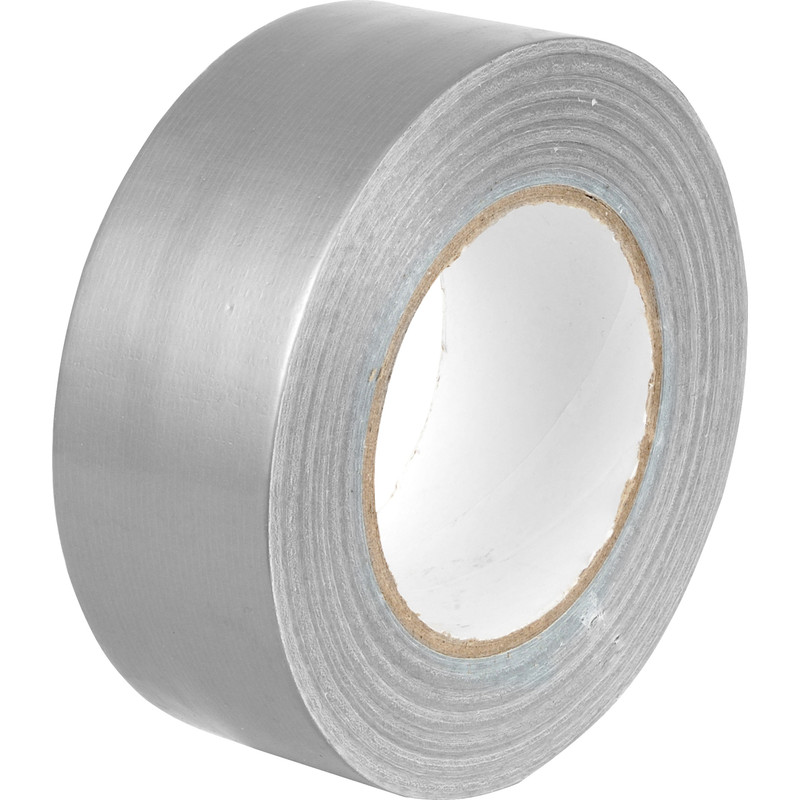 Cloth (Duct) Tape, Silver, 48 mm x 55m (24/cs)
