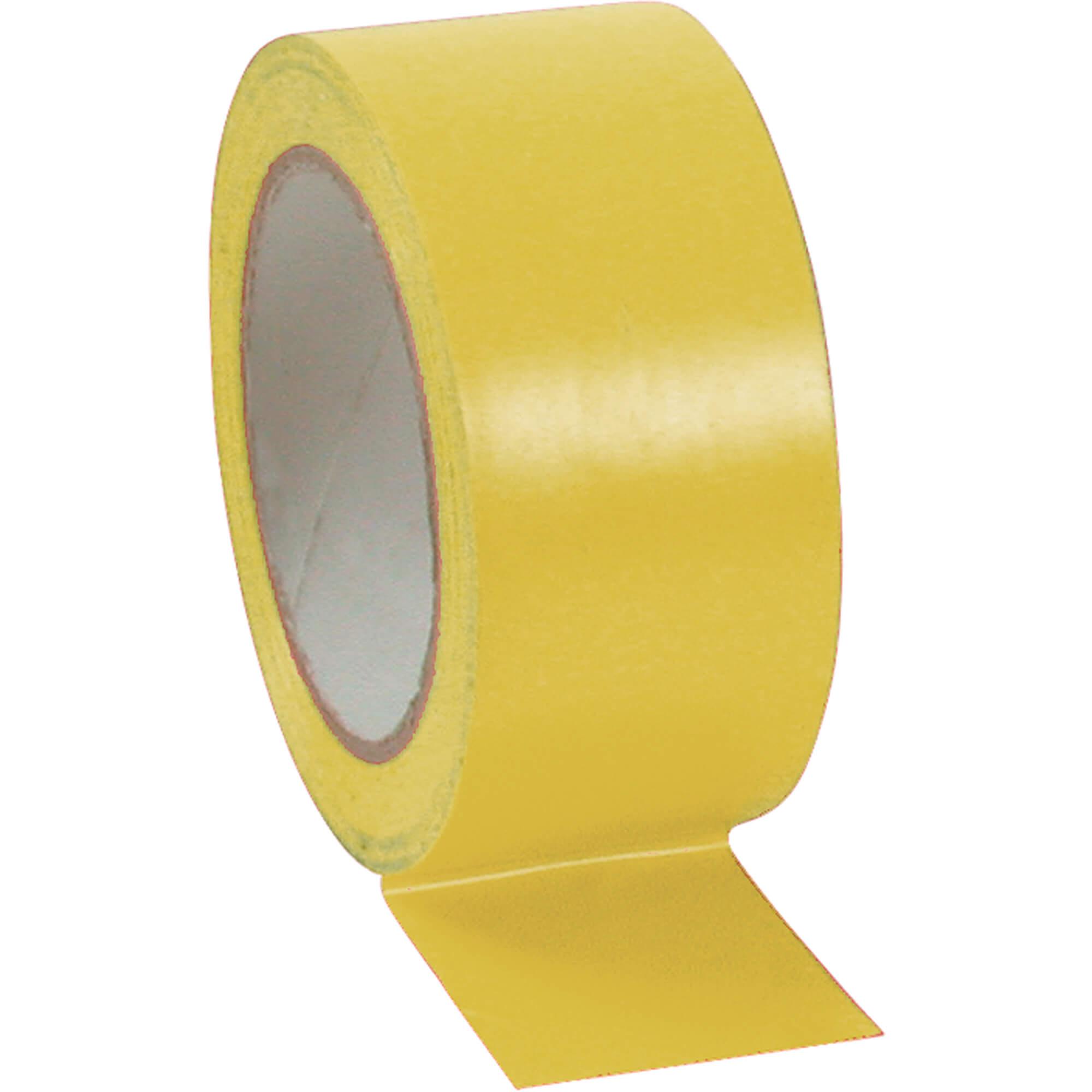 Lane Marking Tape - Yellow Vinyl Tape - 48mm x 33m
