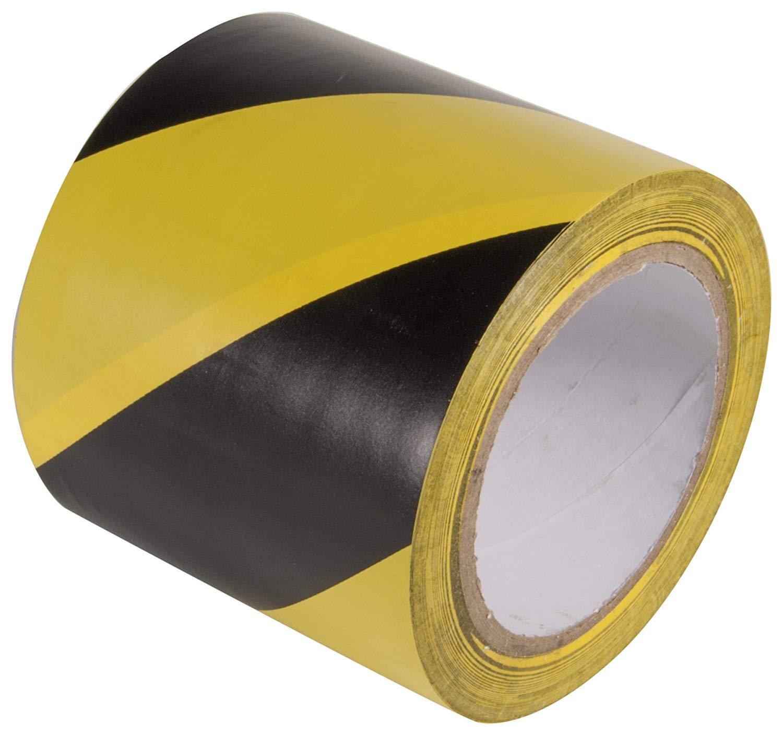 """Lane Marking Tape, Black/Yellow, 3"""" x 33m"""