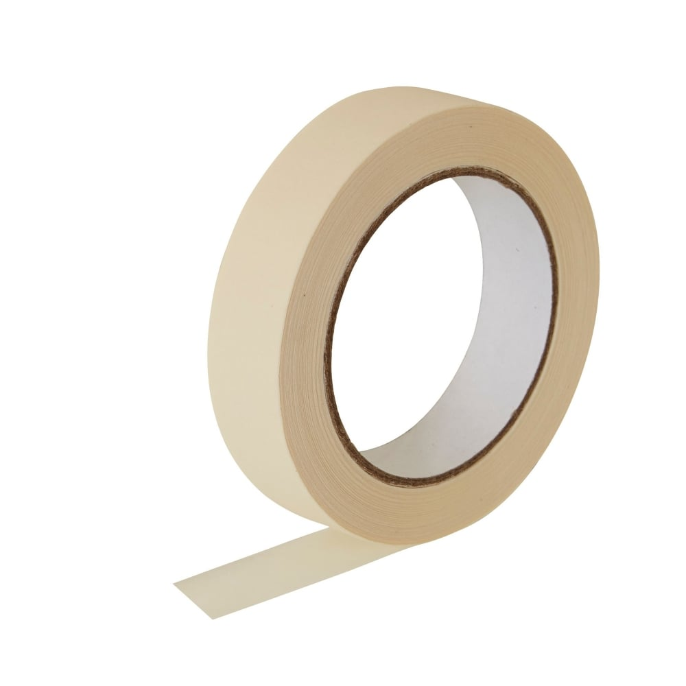 Masking Tape - Utility Grade, High Adhesion - 24mm x 55m - 36/cs