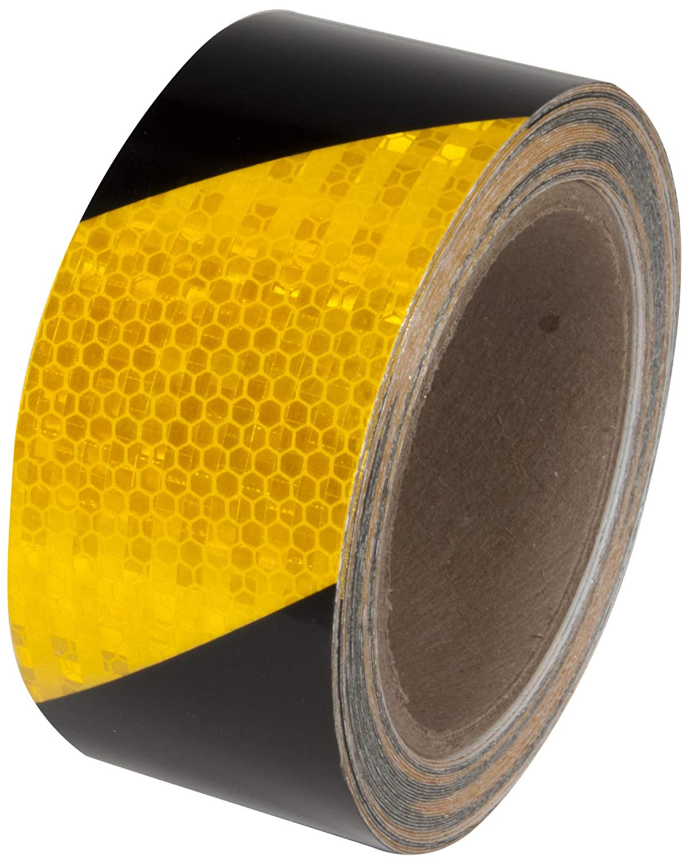 "Reflective Tape - Black/Yellow - 3"" x 30'"