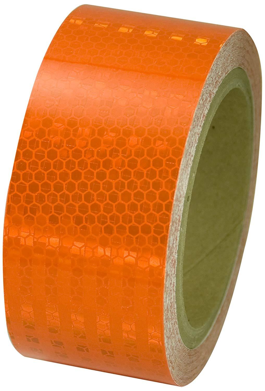 Reflective Tape - Orange Superbrite - 2 x 150'