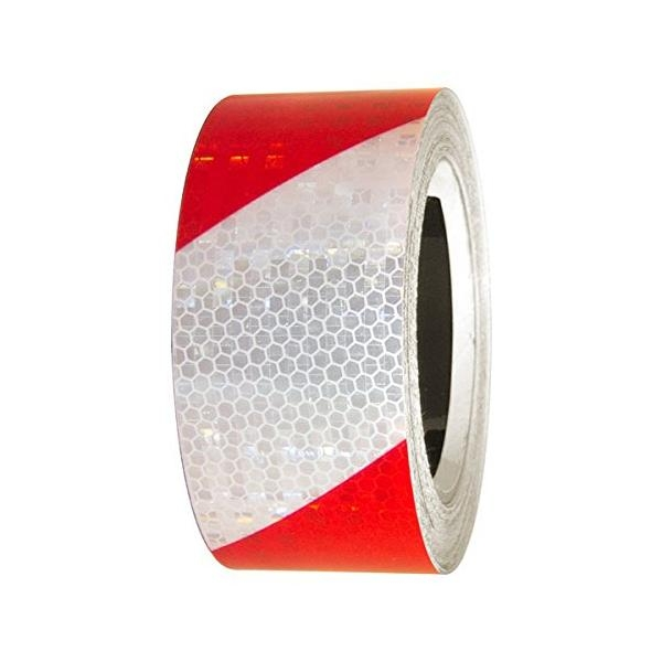 "Reflective Tape - Red&White, Superbrite - 2"" x 30'"
