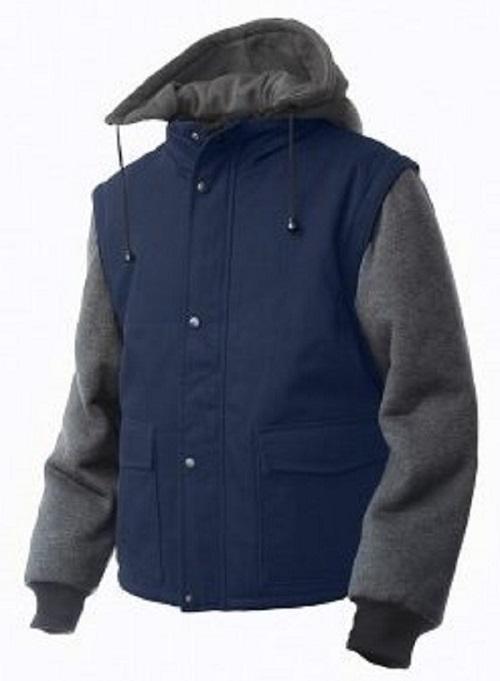 Tough Duck Zip-Off Sleeve Jacket with Detachable Hood - i8A2