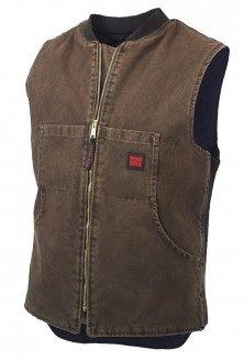 Tough Duck Washed Quilt Lined Vest - 19371B