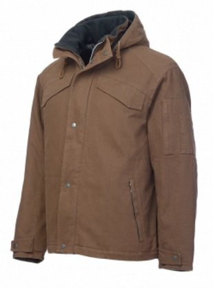 Work King Washed Duck Hooded Jacket - 2489