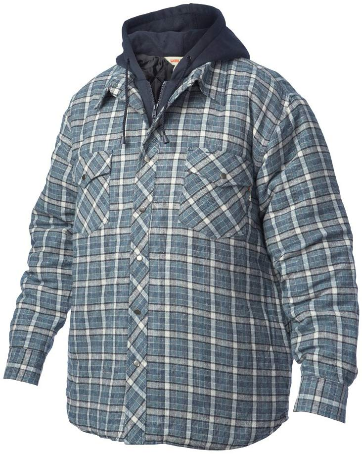 Quilted Hooded Flannel Shirt - i6U5