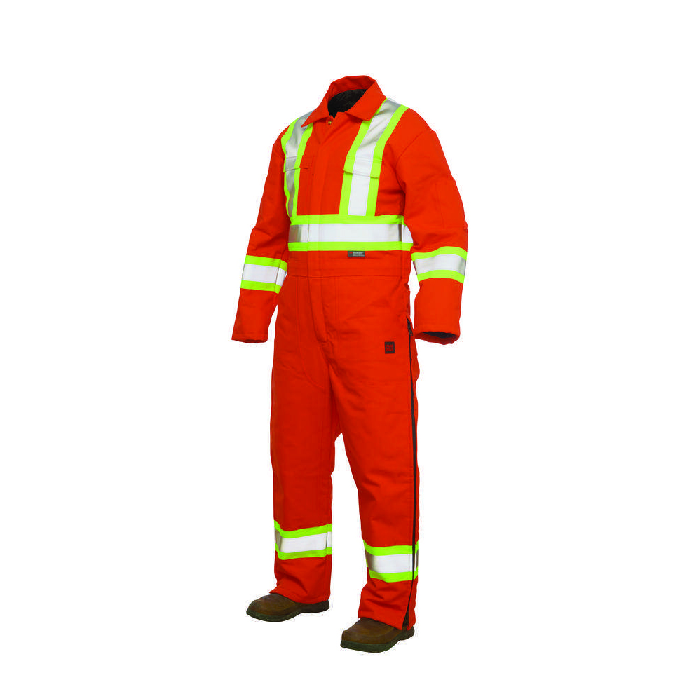 Tough Duck Hi-Vis Lined 3-Zip Coverall - S7748