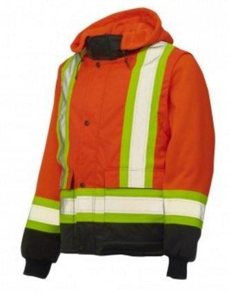 Work King Hi-Vis Zip Off Sleeve Jacket - S281