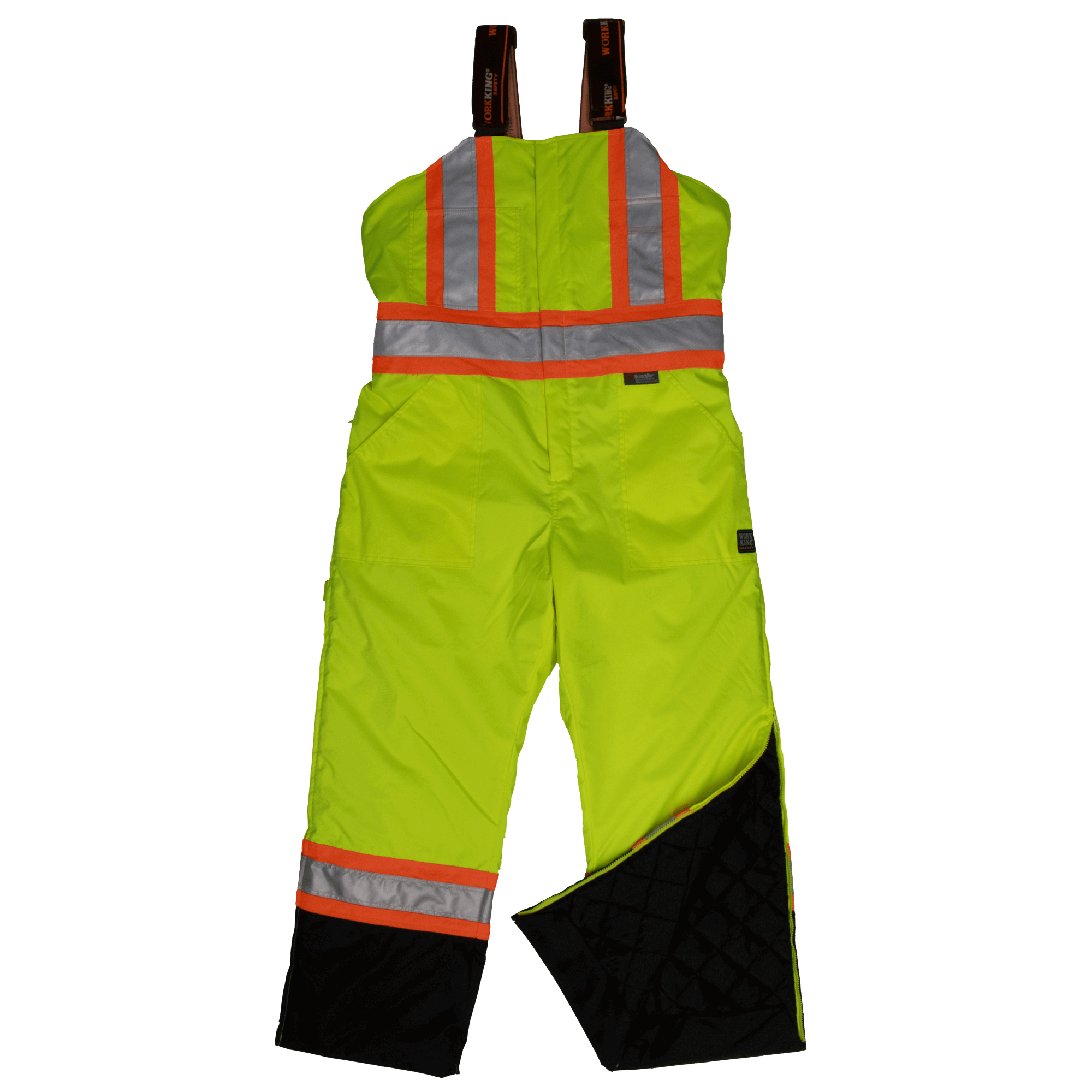 Work King Hi-Vis Lined Insulated Bib Overall - S798