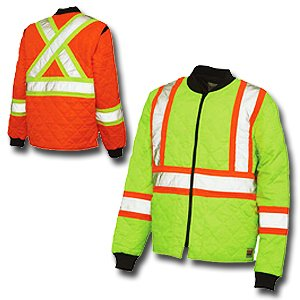 Work King Hi-Vis Quilted Safety Jacket - S432