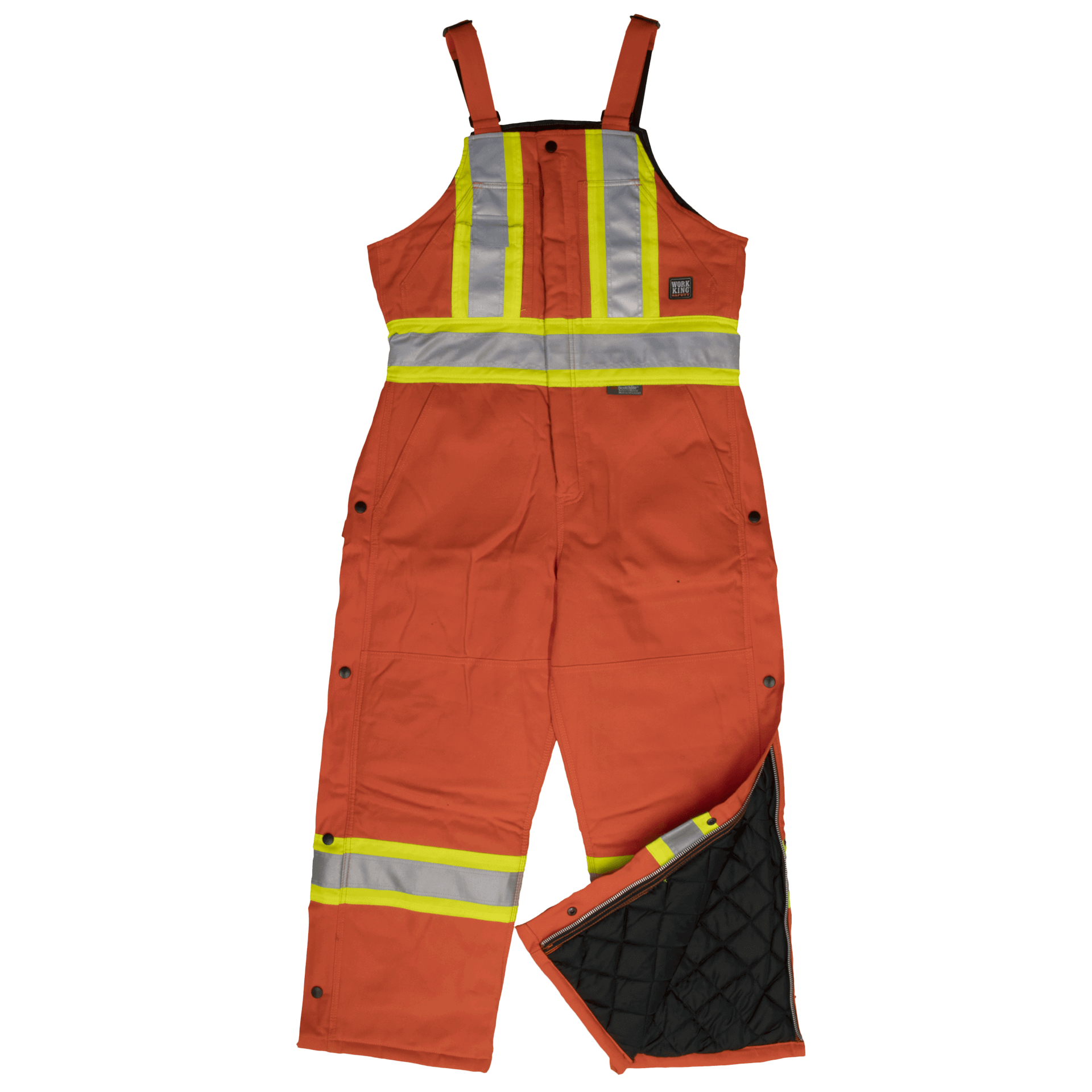 Work King Hi-Vis Cotton Duck Lined Safety Bib Overall - S757