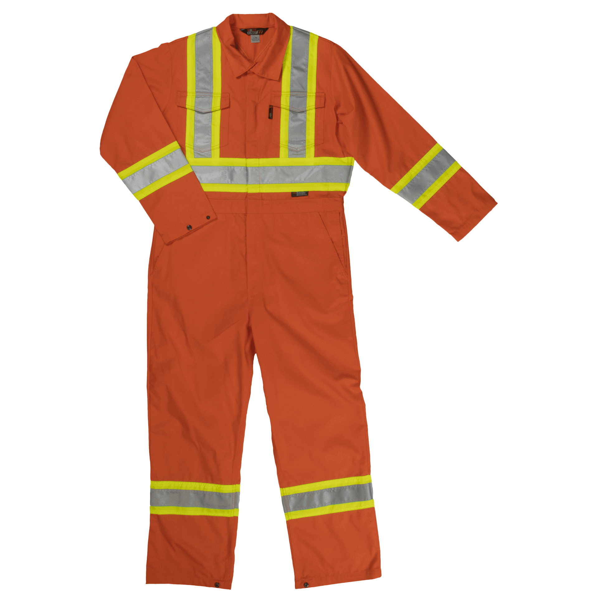 Work King Hi-Vis Poly/Cotton Unlined Enhanced Coverall-S792