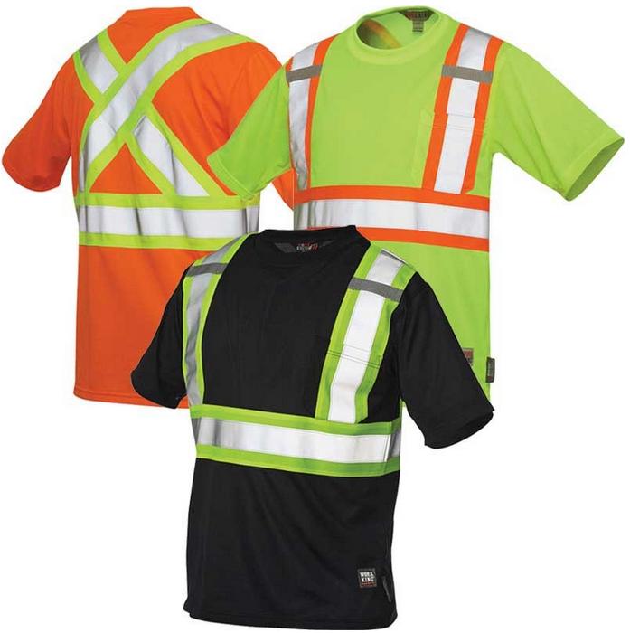 Work King Hi-Vis Short-Sleeve T-Shirt With Pocket - S392