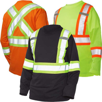 Work King Hi-Vis Long-Sleeve T-Shirt With Armband - S396
