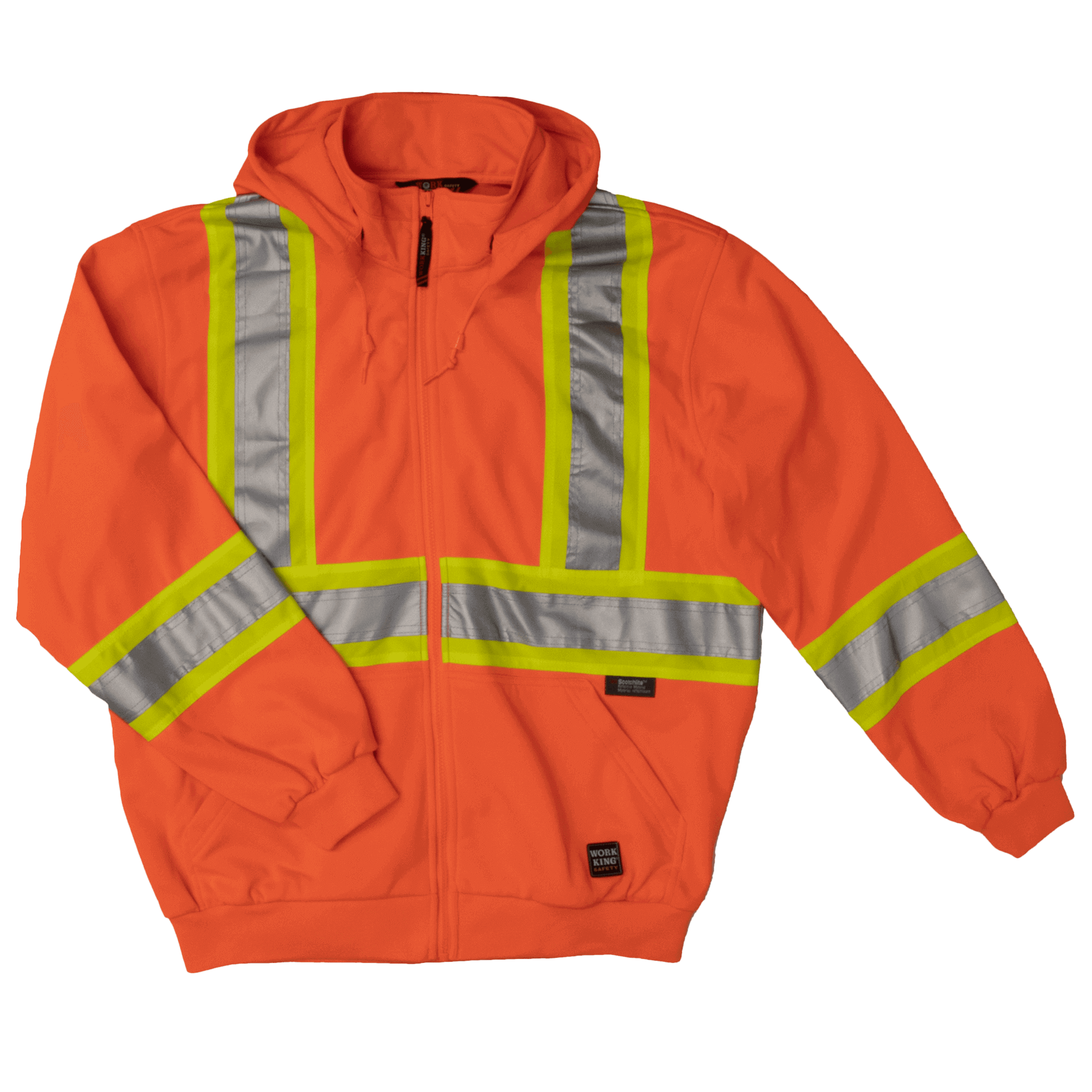 Work King Hi-Vis Zip Front Fleece Hoodie - S494