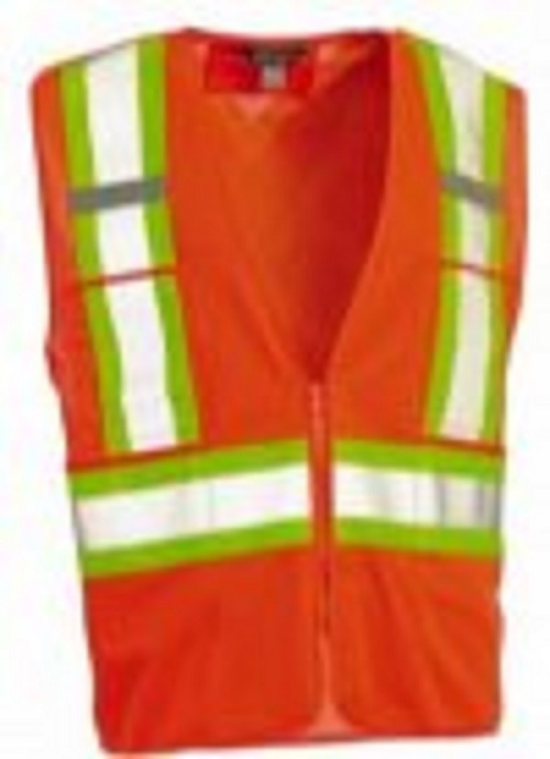 Work King Hi-Vis 5 Point Tearaway Vest W/ Front Zipper- S316