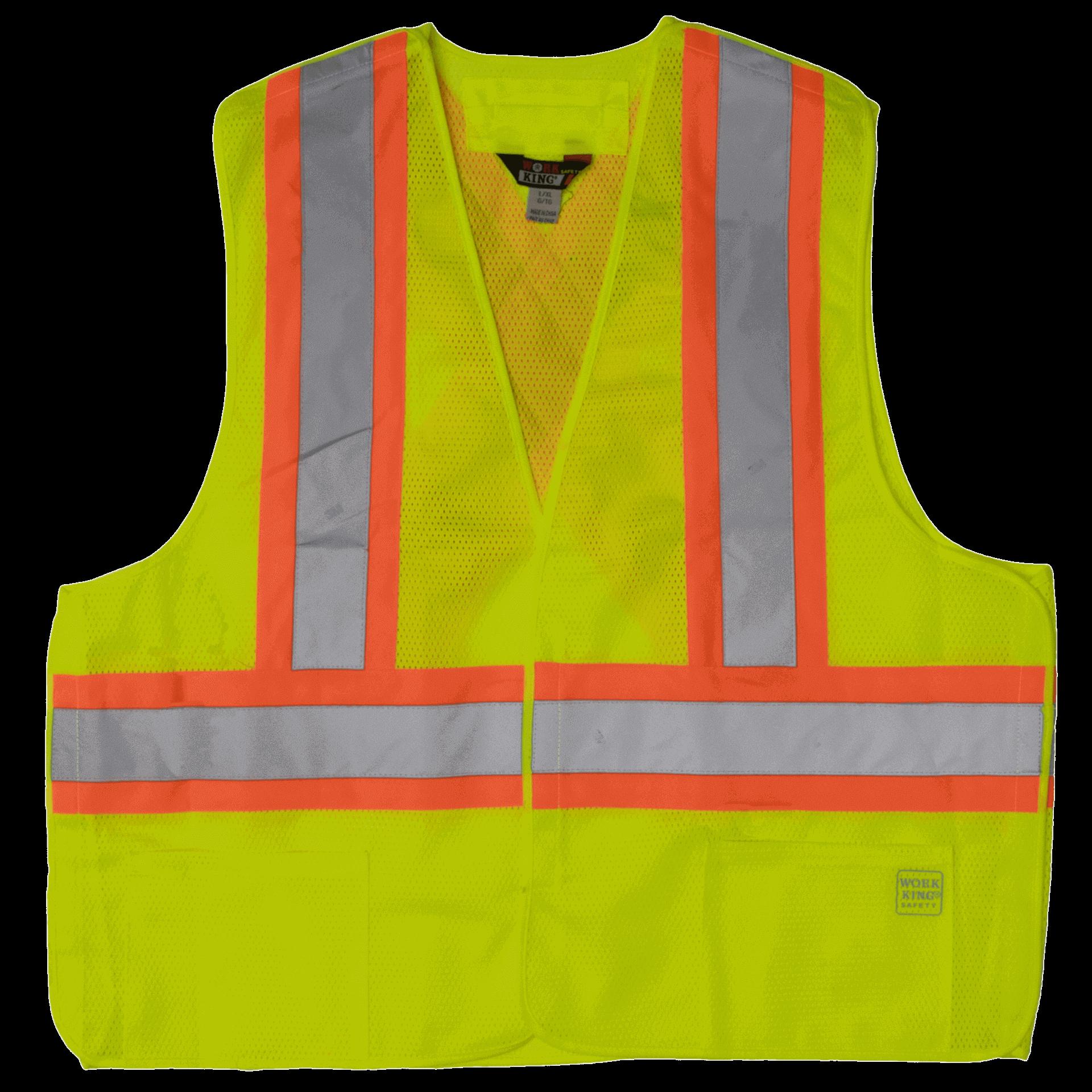 Work King Hi-Vis 5-Point Tearaway Vest (3pk) - S9i0