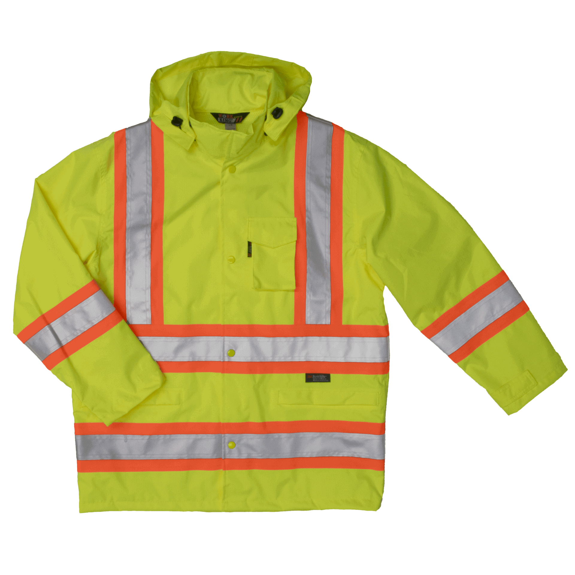 Work King Hi-Vis Rain Jacket - S372
