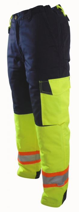 ProGen Hi-Viz Winter Lined Flat Front Pants - 6508