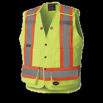 Pioneer HI-Viz Drop Shoulder Tear-Away Surveyors Safety Vest