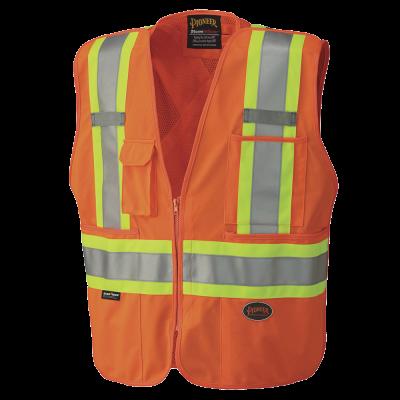 Pioneer Hi-Viz Safety Tear-Away Mesh Back Vest V1021150