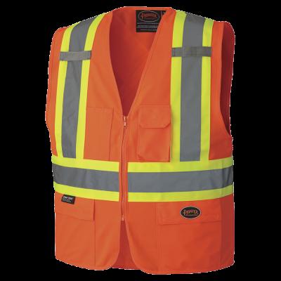 Pioneer Hi-Viz Zipper Front Safety Vest V1022150 - 156