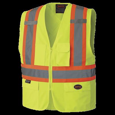 Pioneer Hi-Viz Zipper Front Safety Vest V1022160 - 159