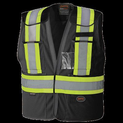 Pioneer Hi-Viz Safety Tear-Away Vest V1021470 - 6933BK