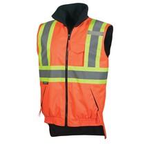 Pioneer Hi-Viz Reversible Fleece Lined Vest V1020350 - 6698