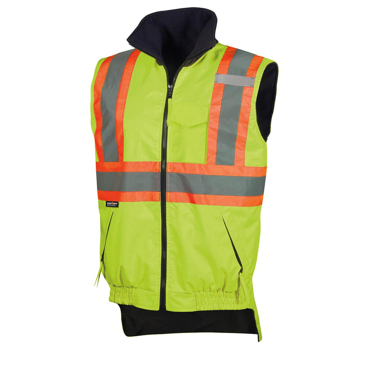 Pioneer Hi-Viz Reversible Fleece Lined Vest V1020460 - 6699