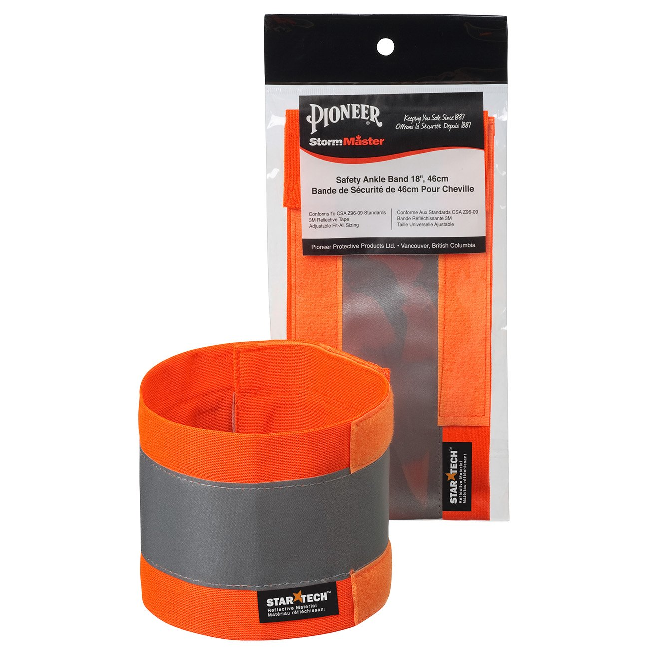 "Pioneer Adjustable Reflective Ankle Band -18x4 V1040250-142"""