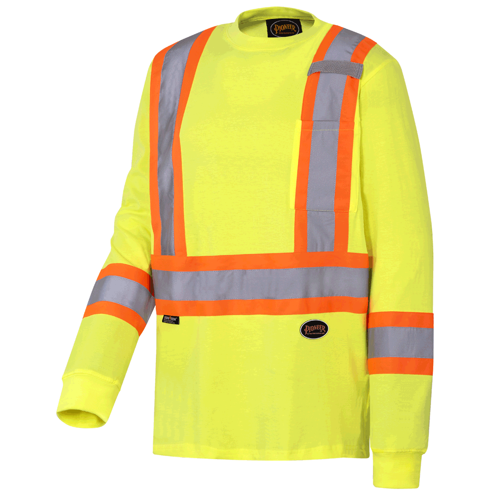 Pioneer Cotton Long-Sleeved Safety Shirt V1050860 - 6982