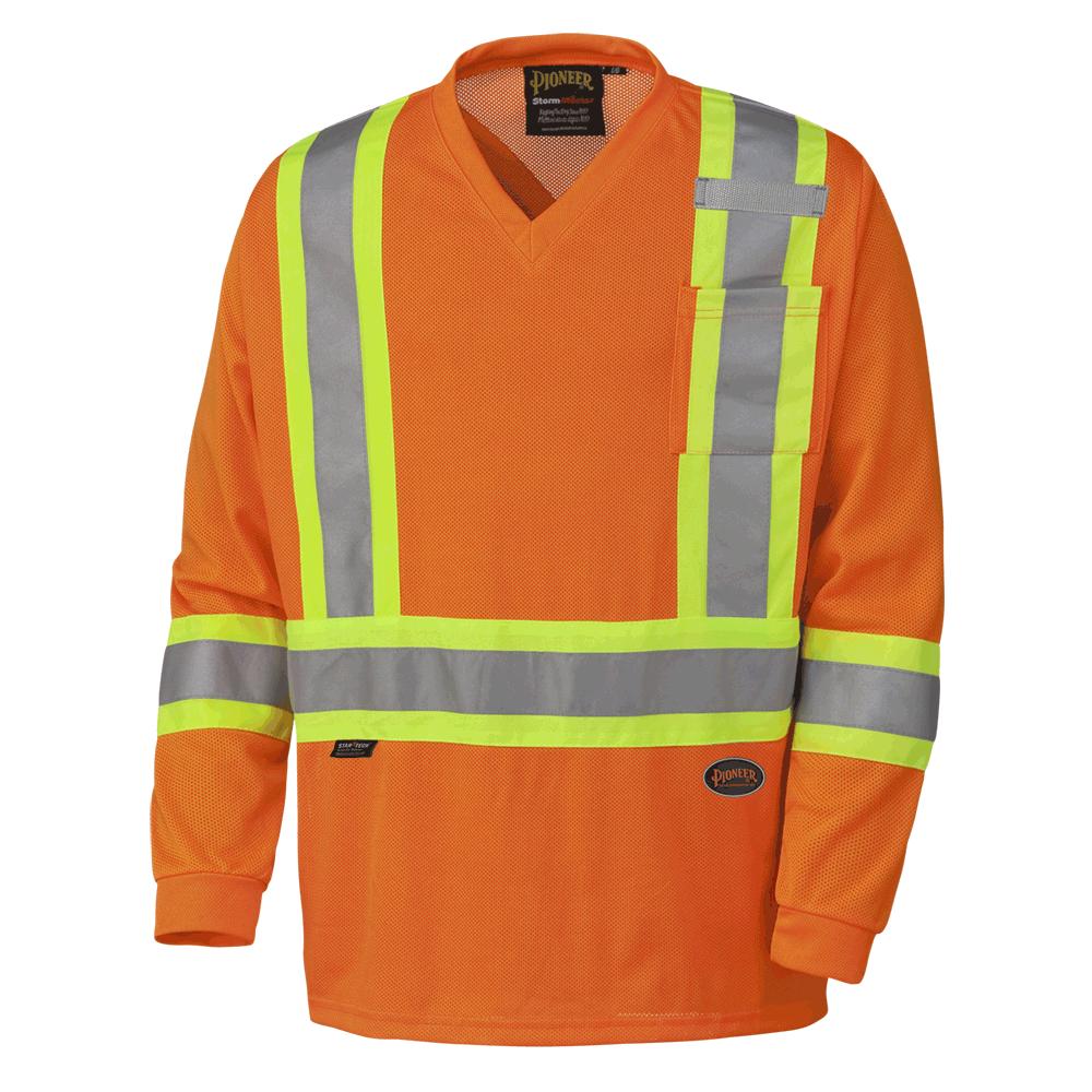 Pioneer Hi-Viz Traffic Micro Mesh Long-Sleeved Traffic Shirt