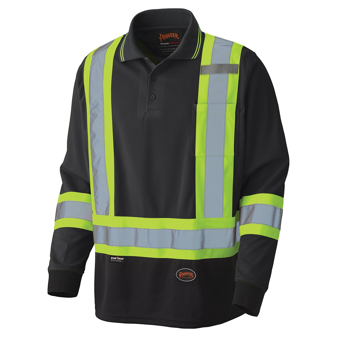 Pioneer Birdseye Long-Sleeved Safety Polo Shirt V1051470