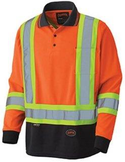 Pioneer Birdseye Long-Sleeved Safety Polo Shirt V1051450