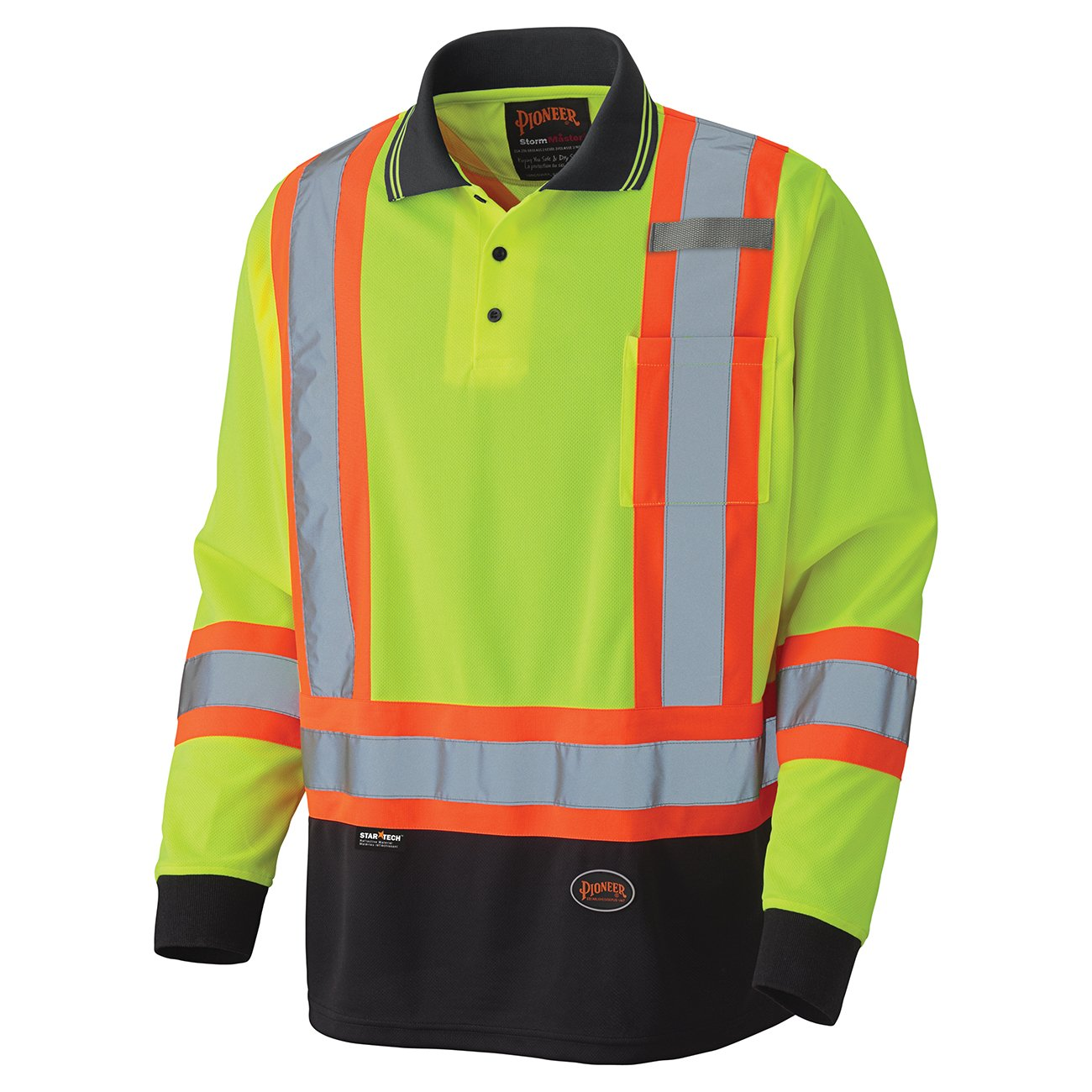 Pioneer Birdseye Long-Sleeved Safety Polo Shirt V1051460