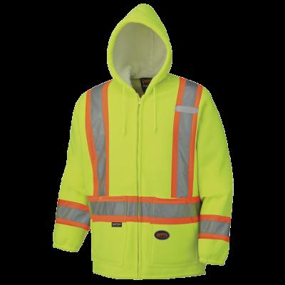Pioneer Hi-Viz Polyester Fleece Boa Lined Hoodie V1060260