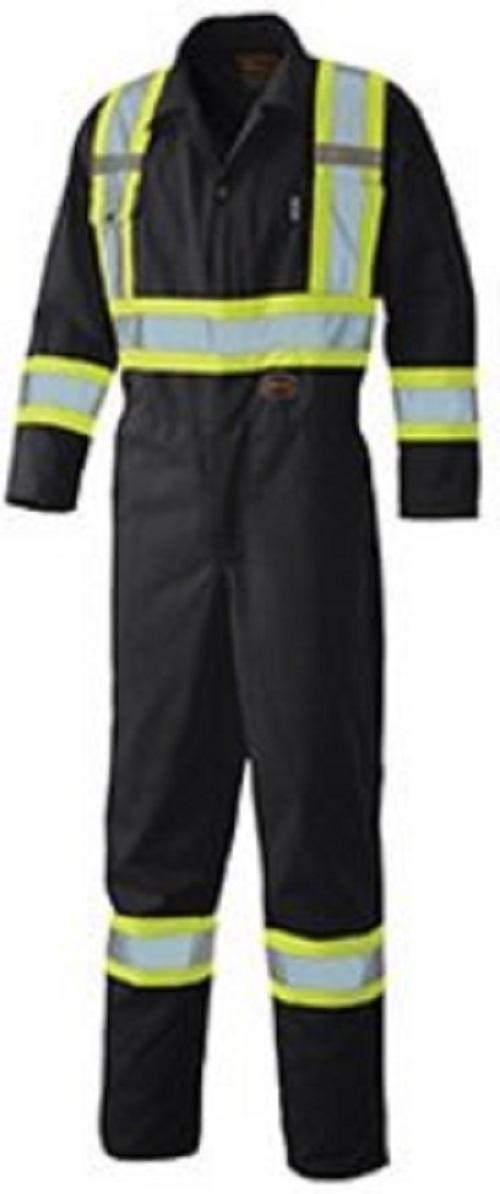 Pioneer Hi-Viz Safety Polyester Cotton Coverall V1160170