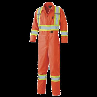 Pioneer Hi-Viz Safety Polyester Cotton Coverall V1160150