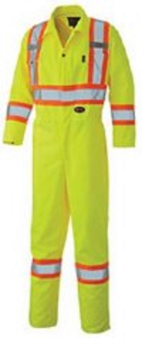 Pioneer Hi-Viz Safety Polyester Cotton Coverall (Tall)