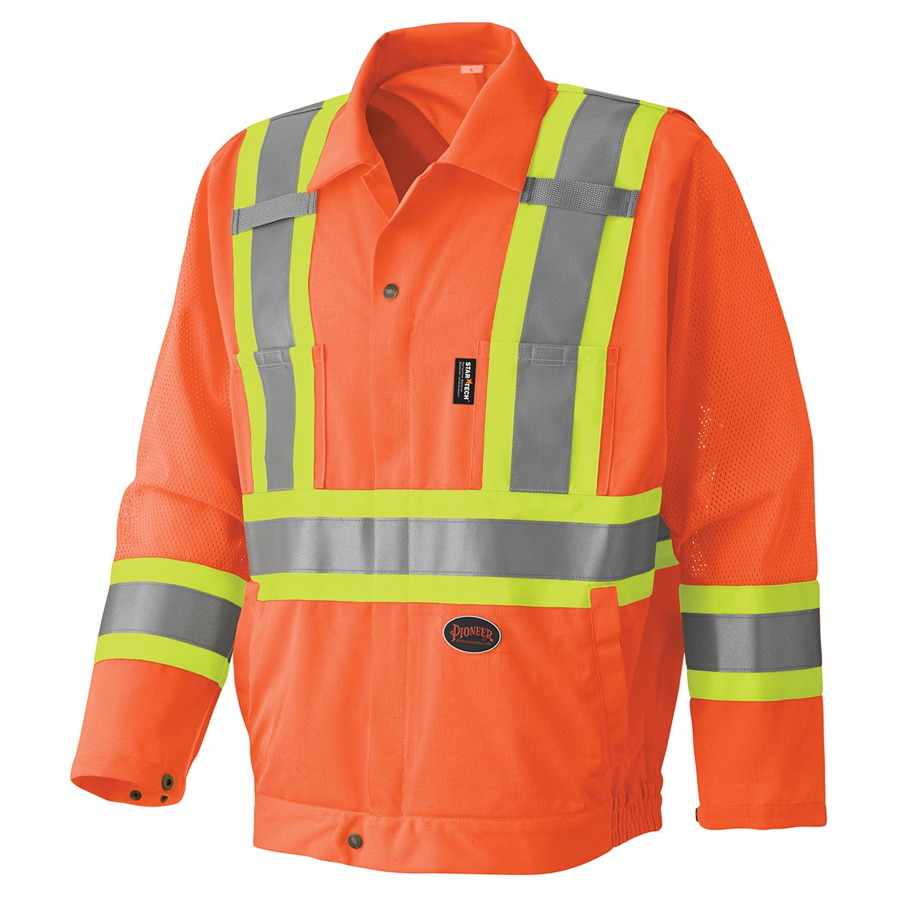 Pioneer Hi-Viz Traffic Safety Jacket V1070250 - 6001J