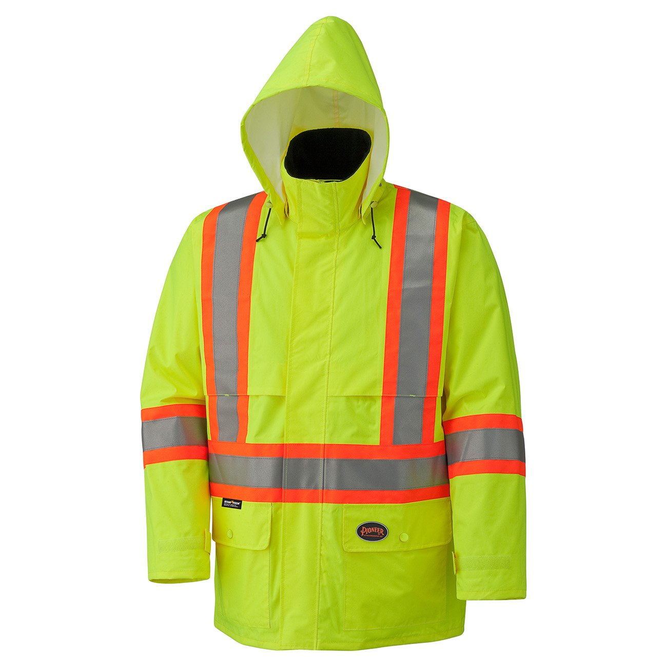 Pioneer Hi-Viz 150D Lightweight Waterproof Safety Jacket