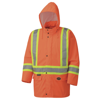 Pioneer Hi-Viz PU Stretch Waterproof Safety Jacket V1140150