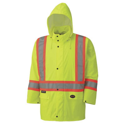 Pioneer Hi-Viz PU Stretch Waterproof Safety Jacket V1140160