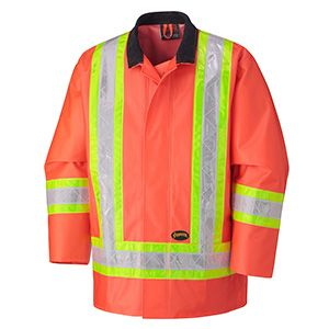 Pioneer Hi-Viz PVC Waterproof Safety Jacket V3030150 - D1000