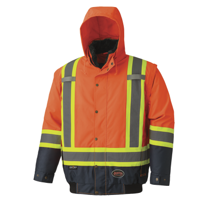 Pioneer Hi-Viz 2-In-1 Faux Fur Lined Waterproof Safety Bombe