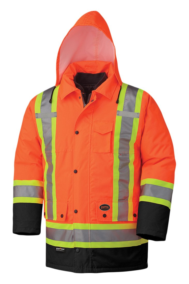Pioneer Hi-Viz Waterproof 6-In-1 Parka V1120151 - 5020BB